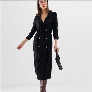 Black ASOS Trench/Jacket Dress Size 10